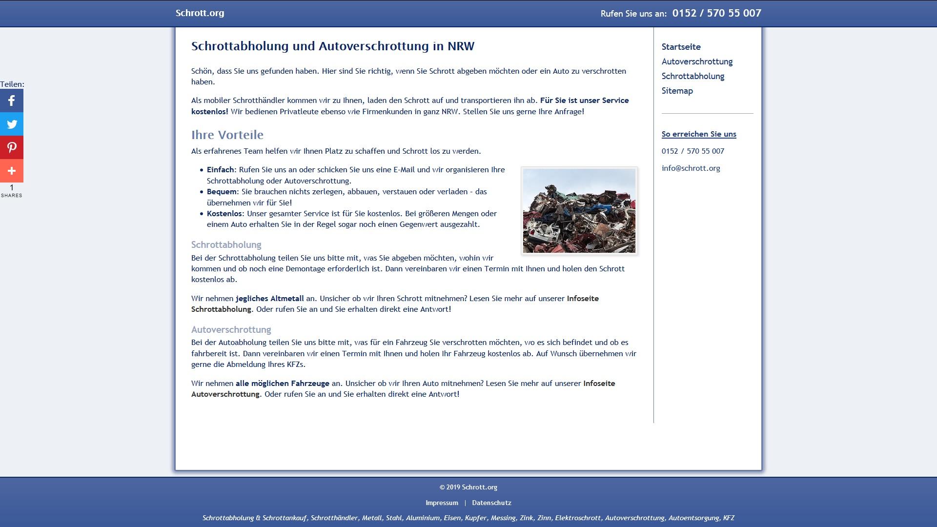 schrottabholung in nrw nutzen sie den kostenlosen service - Schrottabholung in NRW: Nutzen Sie den kostenlosen Service
