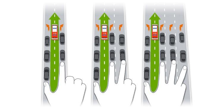 bei stau rettungsgasse bilden im rettungseinsatz zaehlt jede sekunde - Bei Stau Rettungsgasse bilden: Im Rettungseinsatz zählt jede Sekunde