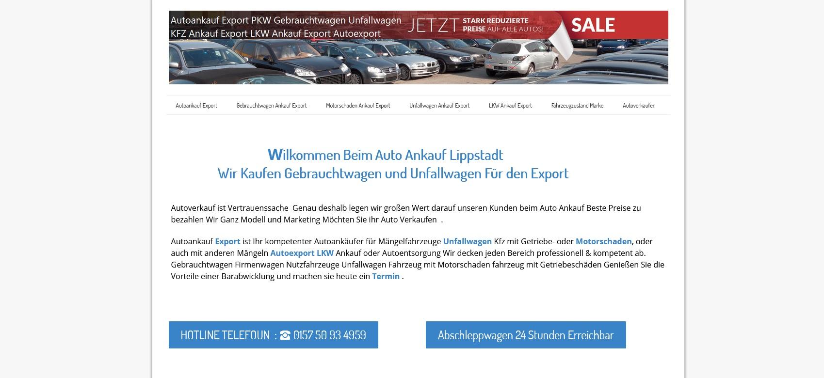 """kfz ankauf export lippstadt kauft die fahrzeuge definitiv wie gesehen - Kfz-Ankauf-Export Lippstadt kauft die Fahrzeuge definitiv """"wie gesehen"""""""
