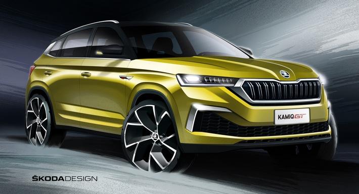 skoda zeigt designskizzen des neuen suv coupes kamiq gt fuer china - SKODA zeigt Designskizzen des neuen SUV-Coupés KAMIQ GT für China