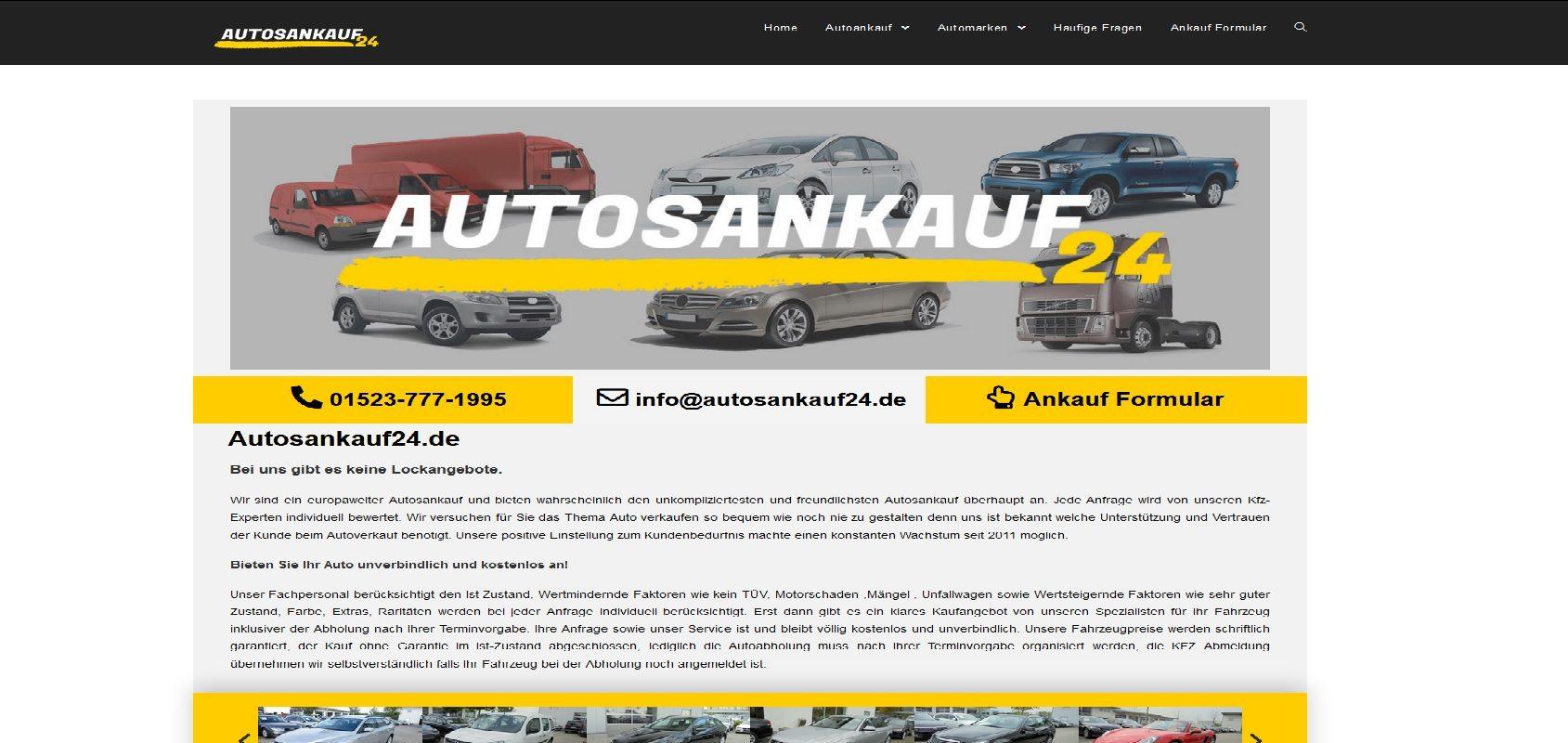 autosankauf24.de Autoankauf Gebrauchtwagen Ankauf