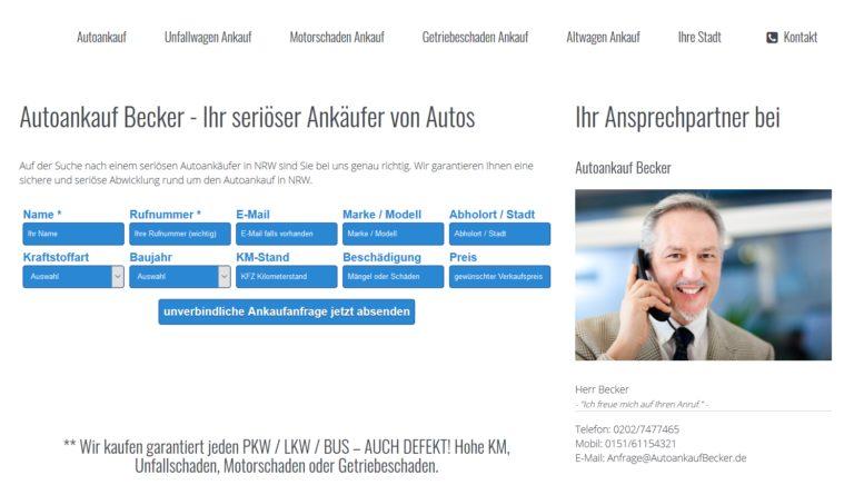 Auto verkaufen in Bottrop